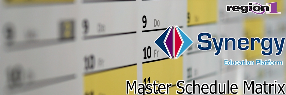 MST419 Master Schedule Matrix