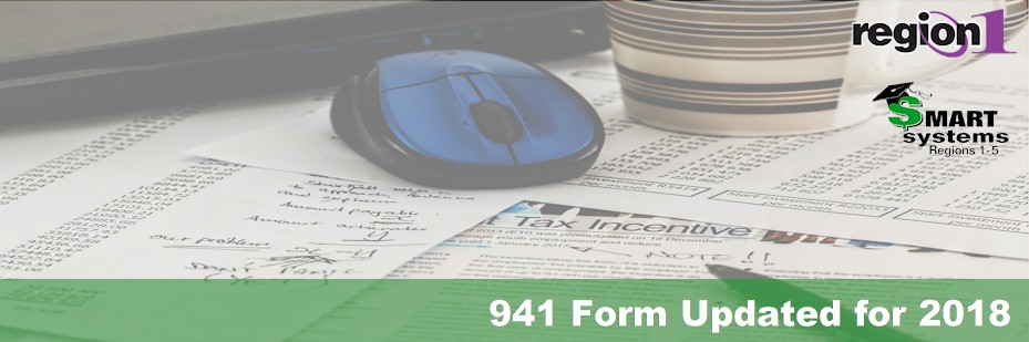 941 Form Updated for 2018