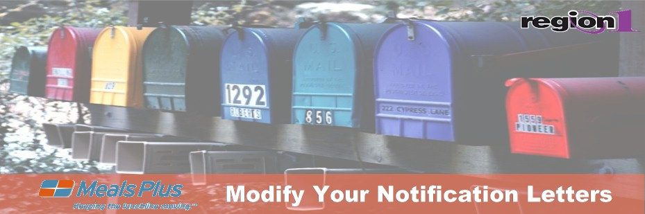 Modify Your Notification Letters
